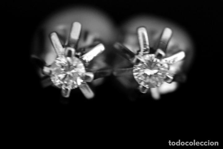 Joyeria: LIQUIDACIÓN, pendientes Dormilonas de diamantes 0,20ct VS-G en oro blanco 18K - Foto 16 - 100731499
