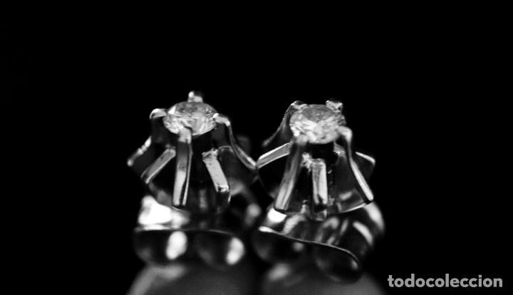 Joyeria: LIQUIDACIÓN, pendientes Dormilonas de diamantes 0,20ct VS-G en oro blanco 18K - Foto 17 - 100731499