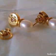 Joyeria - Pendientes de oro 18 kt y perla - 101245467