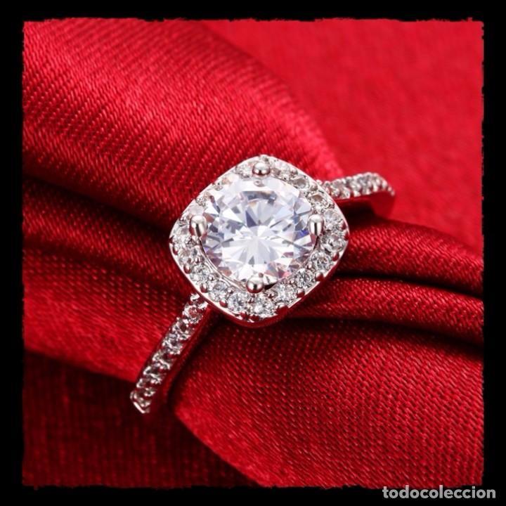 super popular elige genuino super barato se compara con Elegante anillo tipo solitario oro blanco llena - Vendido en ...