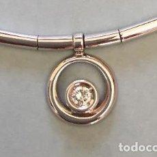 Joyeria: COLLAR TIPO GARGANTILLA DE ORO BLANCO 18 KT CON DIAMANTE TALLA BRILLANTE. Lote 75026515