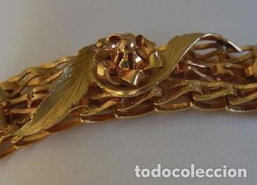 Joyeria: Exclusiva pulsera de oro de 18 Kt. con decoraciones florales - Foto 9 - 210944880
