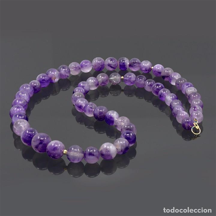 Joyeria: Collar Amatistas Naturales de Brasil - Oro Amarillo 18k - Oro 18 quilates - collar lila - violeta - Foto 2 - 101588855
