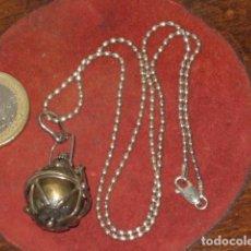Joyeria: CADENA DE PLATA Y COLGANTE LLAMADOR DE ANGELES.PLATA 925 CON CONTRASTE 925.. Lote 101939975