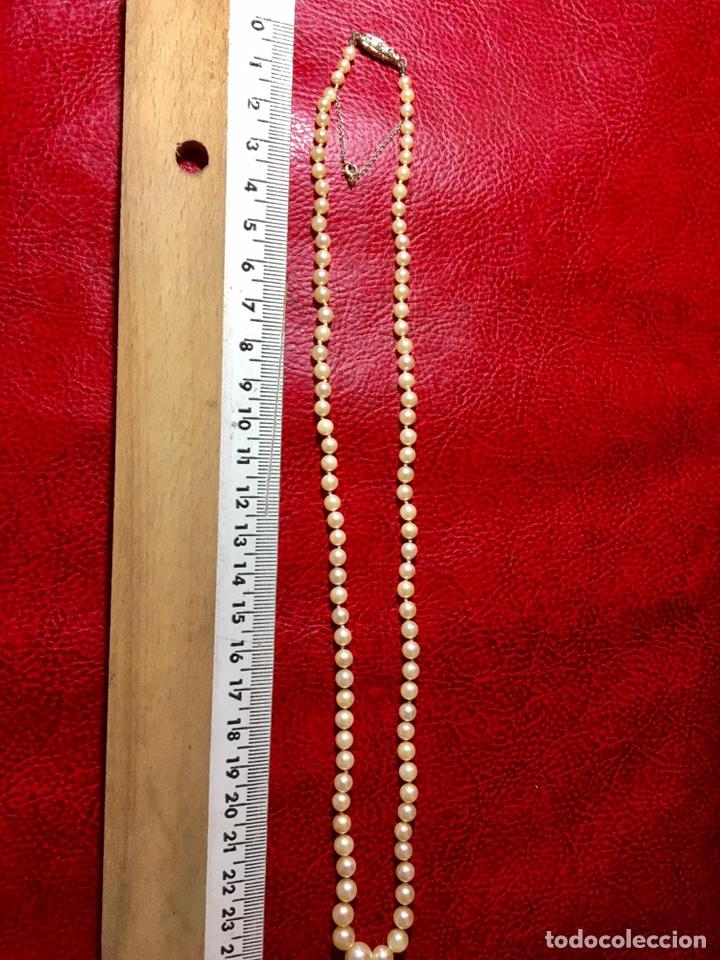 Joyeria: Collar de perlas con cierre oro blanco y diamante - Foto 2 - 102353147