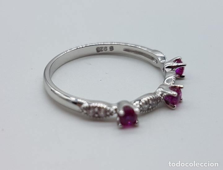Joyeria: Bella sortija estilo vintage en plata de ley, topacios talla diamante y circonitas talla brillante . - Foto 5 - 150245148