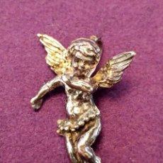 Joyeria: ANTIGUO COLGANTE EN PLATA DE ANGEL. CON CONTRASTE. ANGELITO.. Lote 102516495