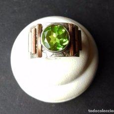 Joyeria - Original anillo en Plata de Ley y Peridoto - 115910042
