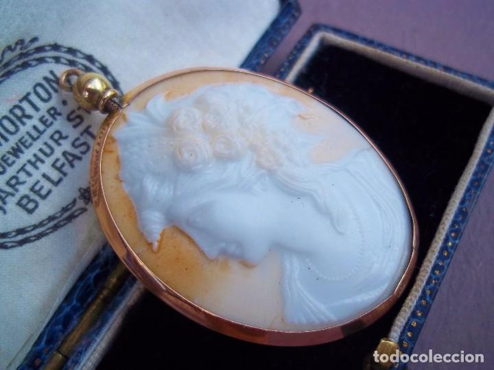 Joyeria: Elegante camafeo antiguo art deco con montura de oro de 9 quilates - Foto 2 - 103178831