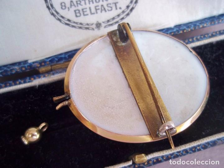 Joyeria: Elegante camafeo antiguo art deco con montura de oro de 9 quilates - Foto 3 - 103178831