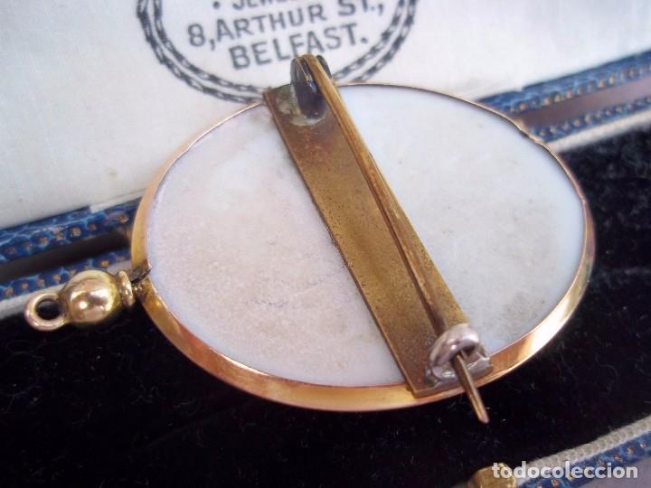 Joyeria: Elegante camafeo antiguo art deco con montura de oro de 9 quilates - Foto 4 - 103178831