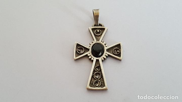 Joyeria: Precioso colgante en plata y azabache. Silver pendant. - Foto 2 - 103198919