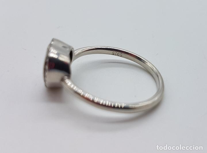 Joyeria: Bella sortija tipo pedida en plata de ley contrastada, circonitas talla brillante y talla corazón . - Foto 5 - 112605495