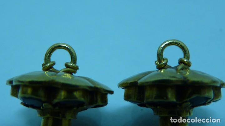 Joyeria: PAREJA DE BOTONES MALLORQUINES EN ORO DE 18 KTLS DEL SIGLO XIX . - Foto 8 - 103507767