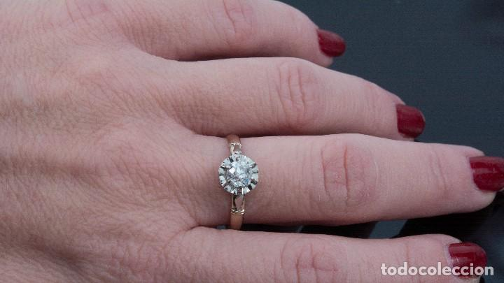 1f39e06211ab Joyeria  Exquisita Sortija Solitario de oro 18 kt con gran diamante de medio  quilate 0