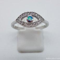 Jewelry - Sortija de estilo vintage en plata de ley, circonitas talla brillante y aplicación de opalo . - 132663195