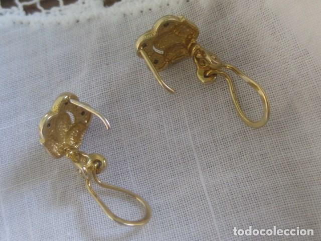 Joyeria: PENDIENTES CIERRE OMEGA LAMINADOS EN ORO BICOLOR CIRCONITAS TALLA BRILLANTE - Foto 2 - 103969671