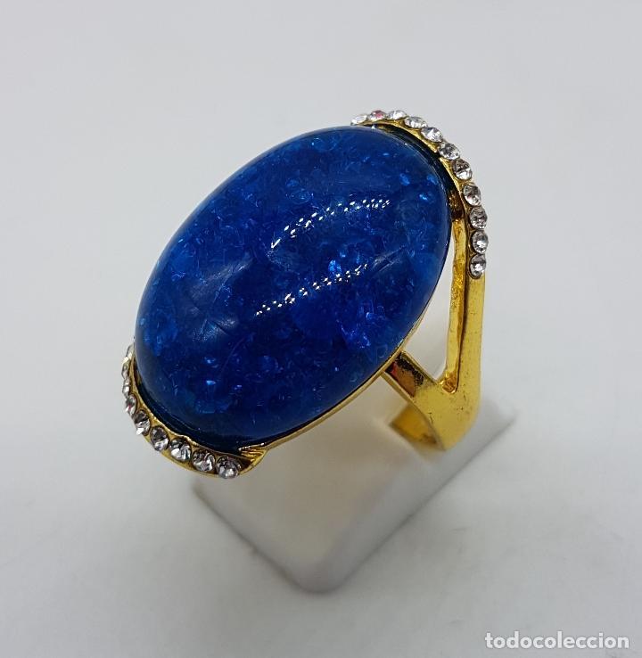 Precioso anillo estilo modernista con baño de o - Vendido ...