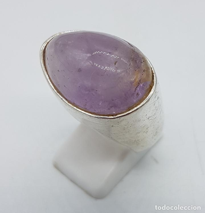 Joyeria: Gran anillo de estilo vintage diseño exclusivo en plata de ley con gran cabujón de cuarzo rosa . - Foto 2 - 194754482