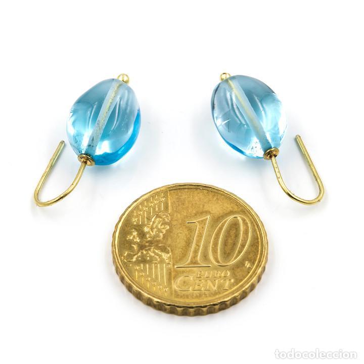 Joyeria: Pendientes Topacio Azul Natural y Oro de Ley 18k - Foto 5 - 104780595