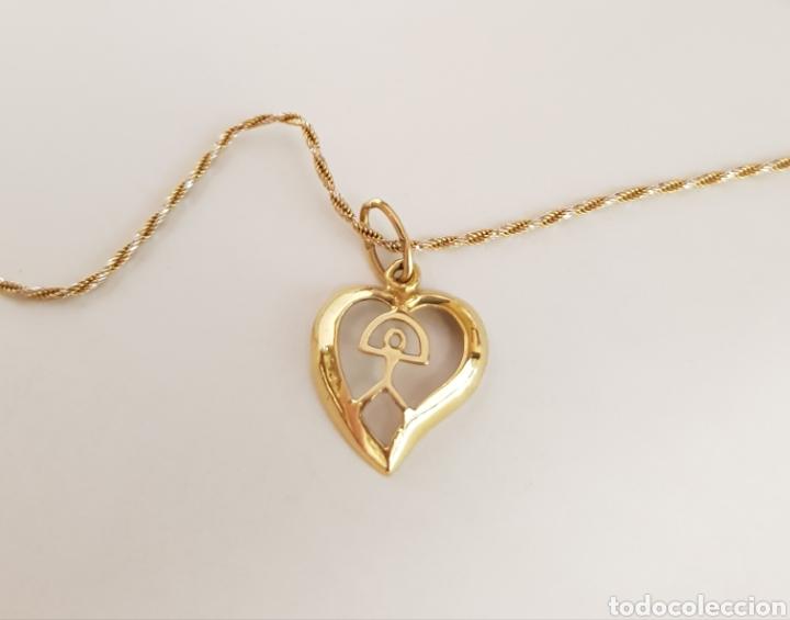 sitio de buena reputación 20add 651db Collar corazón de oro amarillo