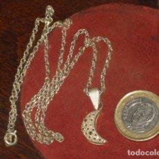 Joyeria: CADENA DE PLATA CON COLGANTE,LUNA.. Lote 105123231