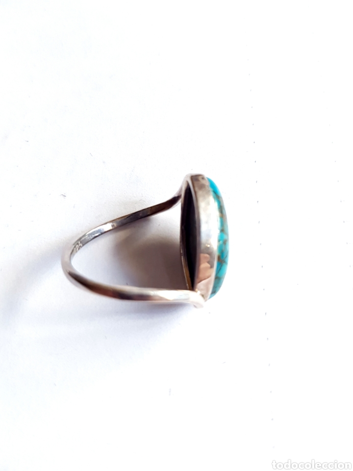 Joyeria: Anillo de plata y turquesa - Foto 2 - 105721796