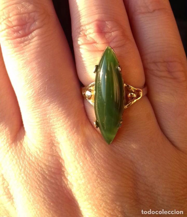 Joyeria: Antiguo anillo Oro 18kt y Jade - Foto 2 - 106085663