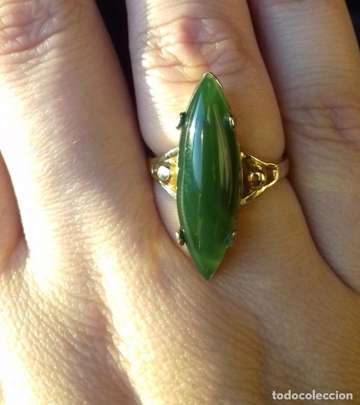 Joyeria: Antiguo anillo Oro 18kt y Jade - Foto 5 - 106085663