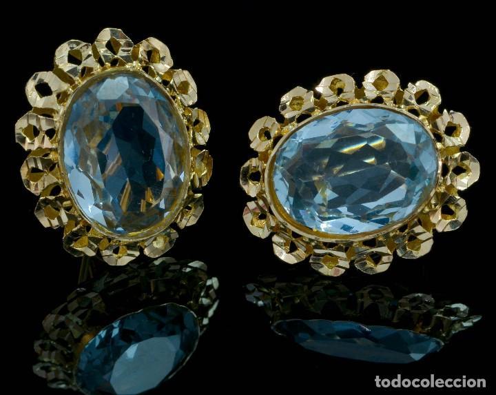 Joyeria: Preciosos Pendientes de oro 18 kt con aguamarinas - Foto 2 - 106536467