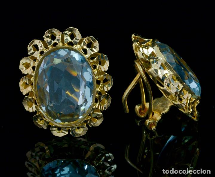 Joyeria: Preciosos Pendientes de oro 18 kt con aguamarinas - Foto 3 - 106536467