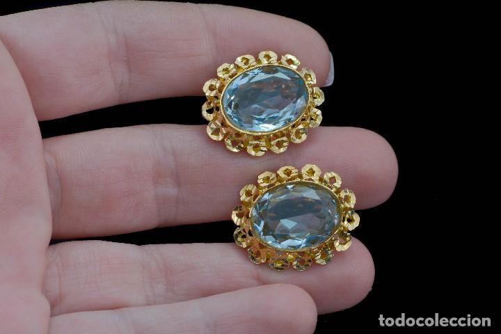 Joyeria: Preciosos Pendientes de oro 18 kt con aguamarinas - Foto 4 - 106536467