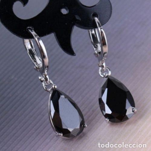 eceb77c48ef1 pendientes vintage plata con tipo zafiro negro - Comprar Pendientes ...