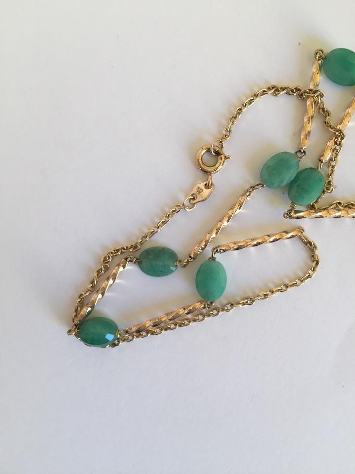 Joyeria: collar de oro 18kt y esmeraldas. - Foto 7 - 100423015