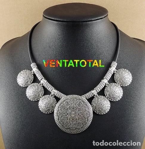 COLLAR VINTAGE DE PLATA ORIENTAL - PESO 63 GRAMOS - LEER DENTO DESCRIPCION COMPLETA - Nº1 (Joyería - Collares Antiguos)