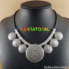 Joyeria: COLLAR VINTAGE DE PLATA ORIENTAL - PESO 63 GRAMOS - LEER DENTO DESCRIPCION COMPLETA - Nº1. Lote 106953023