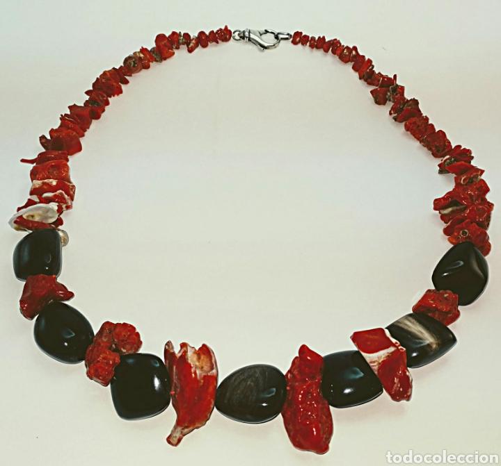Joyeria: Collar de coral rojo y negro - Foto 2 - 107001396