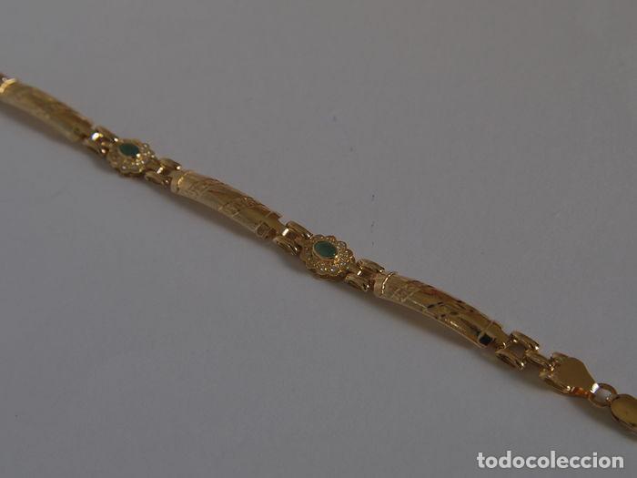 Joyeria: Pulsera de oro 18 kt.,con rosetas de Esmeraldas . - Foto 10 - 122953000