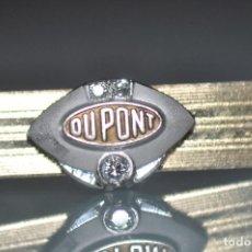 Joyeria: ANTIGUO PILLACORBATAS DUPONT CON DIAMANTES , CHAPADO EN ORO 12 KT.. Lote 107077107