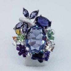 Jewelry - Espectacular anillo en plata de ley, esmaltes, amatistas, topacio, citrinos y peridoto autenticos . - 107098587