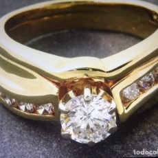 Joyeria: EXCLUSIVO ANILLO DE ORO 14 K CON DIAMANTES 1 CT CON CERTIFICADO. Lote 104147819
