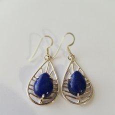 Joyeria - Pendiente de plata y piedra azul - 107396484