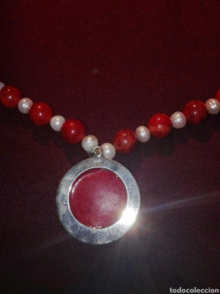 Joyeria: Collar de coral rojo y perlas cultivadas - Foto 2 - 107715739