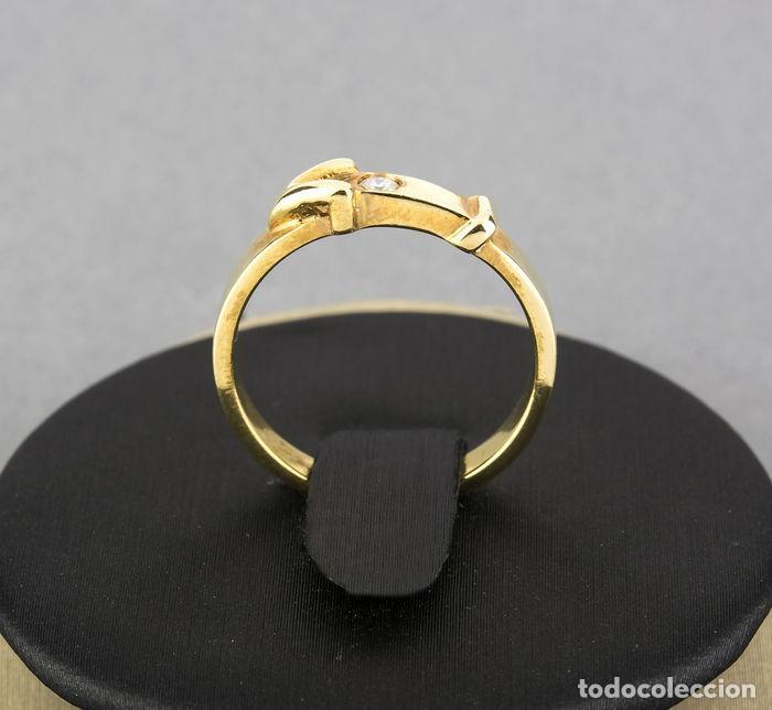 Joyeria: Sortija Oro amarillo 18kt con Diamante brillante engastado - Talla 11 (ES) - Foto 5 - 108261103