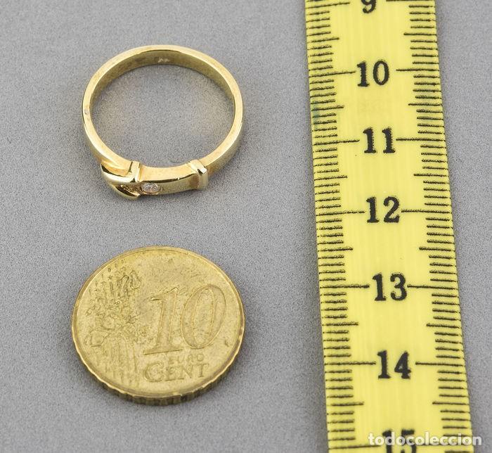 Joyeria: Sortija Oro amarillo 18kt con Diamante brillante engastado - Talla 11 (ES) - Foto 6 - 108261103