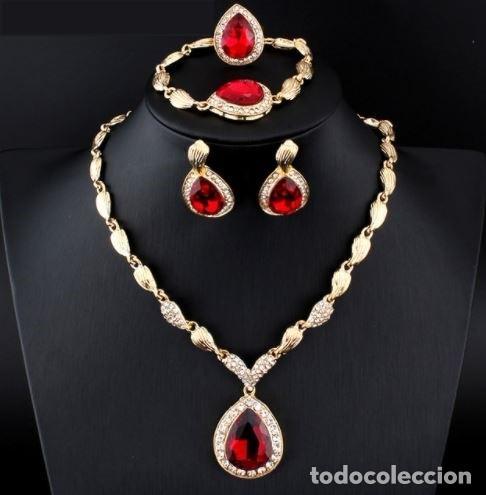 06a498563ca7 Conjunto o juego en oro con piedras preciosas r - Vendido en Subasta ...