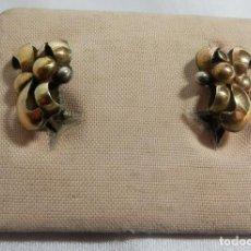 Preciosos pendientes de oro y plata de Ley Art Decó