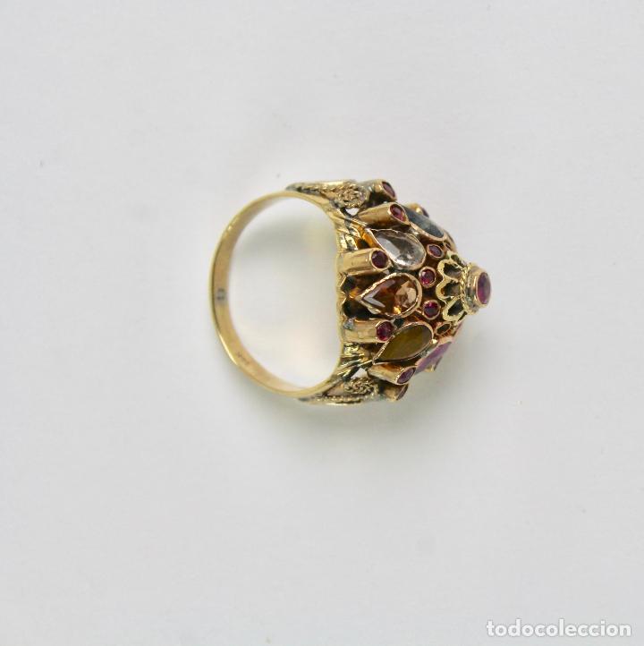 b564464bad4d joy-814. anillo de plata dorada con varias pied - Comprar Anillos ...