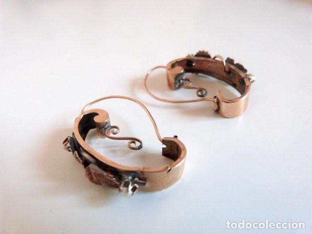 Joyeria: Pendientes antiguos Isabelinos 1850 en oro de 14k y perlas - Foto 2 - 109433075