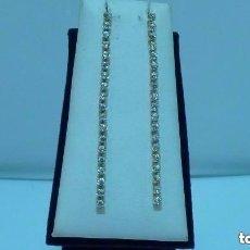 Joyeria: PENDIENTES LARGOS CIRCONITA ORO DE 750MM. (18 KLTS). Lote 109466011